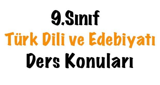 9.Sınıf Türk Dili ve Edebiyatı-İsim(Ad) Konu Kavrama Testi-3